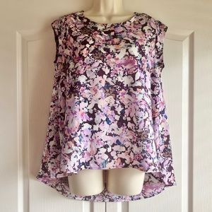 The Limited Spring Floral Cap Sleeve Top